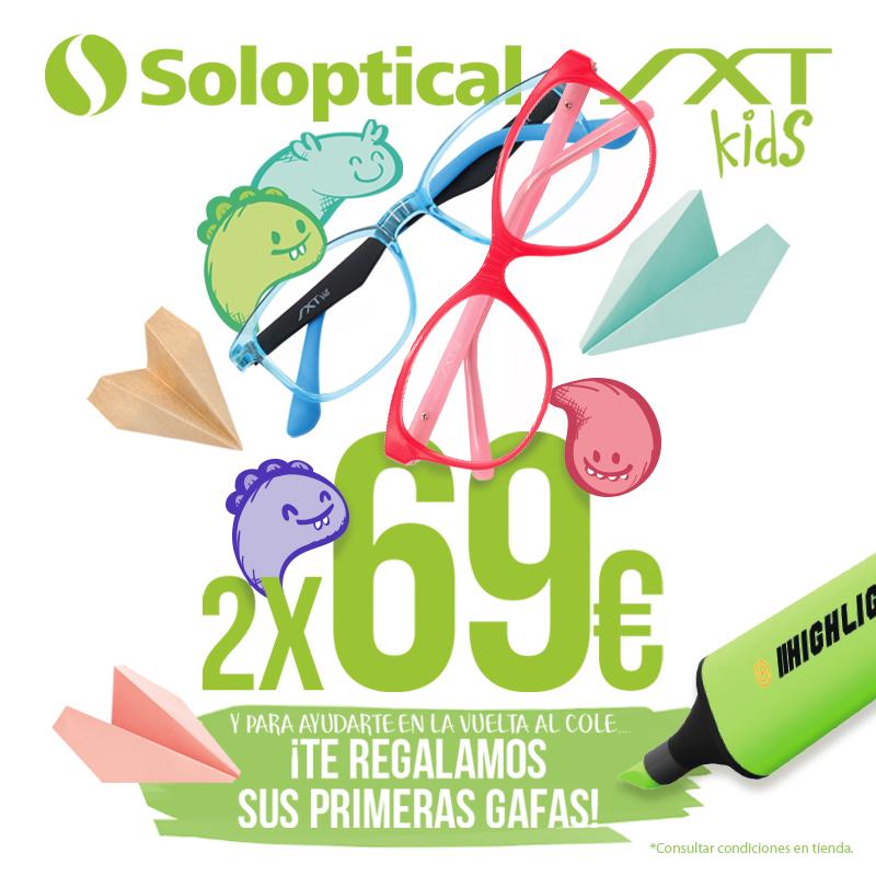 Vuelta al cole: SXT KIDS 2×69 € en Soloptical