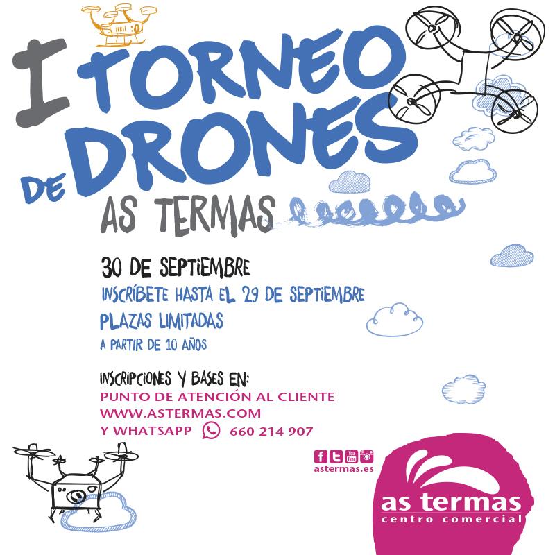 ¡Participa en el primer torneo de drones de Galicia para todos los públicos  en As Termas CC!