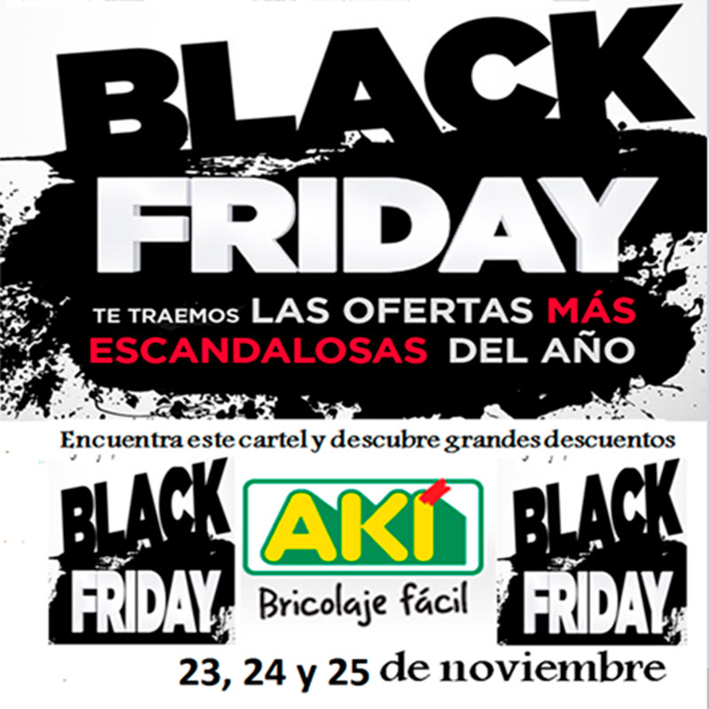 Black Friday en Akí Bricolaje