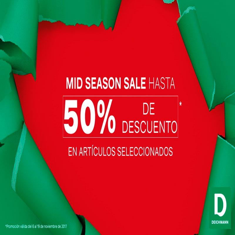 Mid Season Sale con descuentos de hasta el 50%