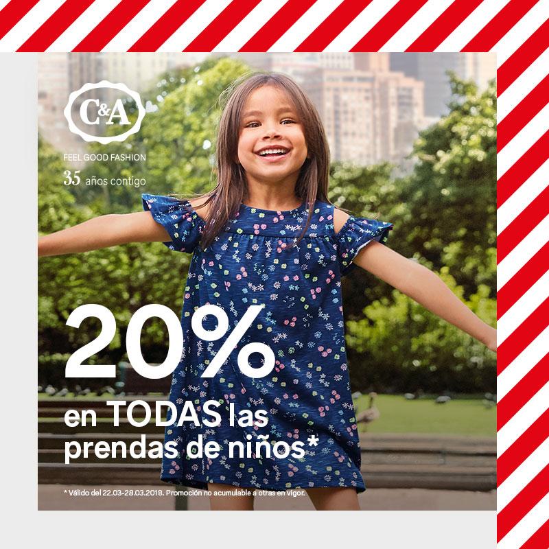 20% de descuento en toda la colección de niños