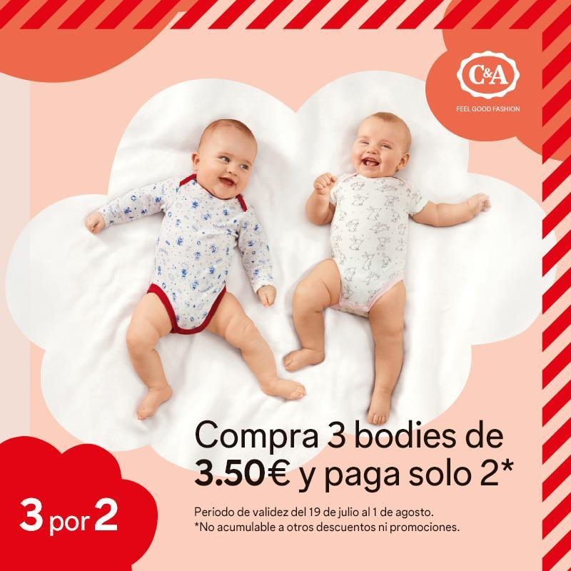 C&A Bodies bebé 3×2