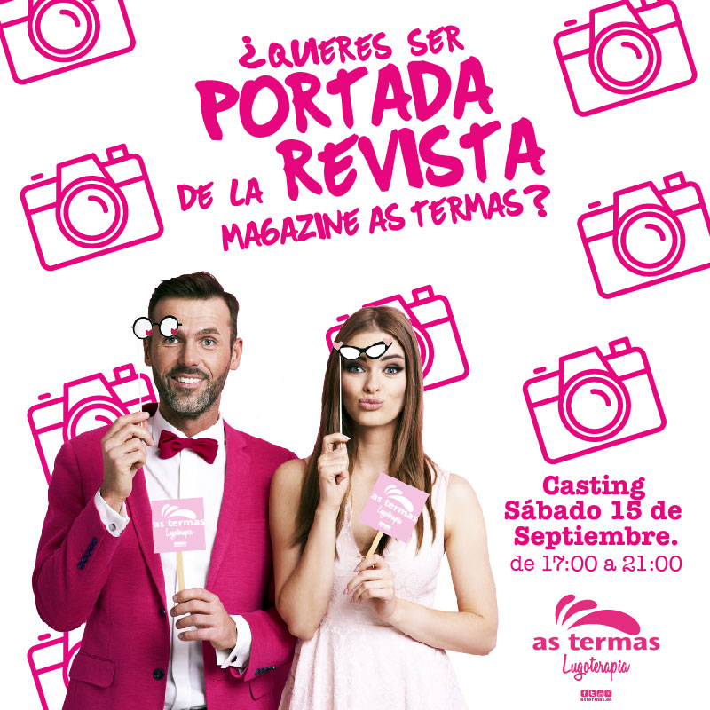 ¿QUIERES SER PORTADA DE LA REVISTA AS TERMAS?