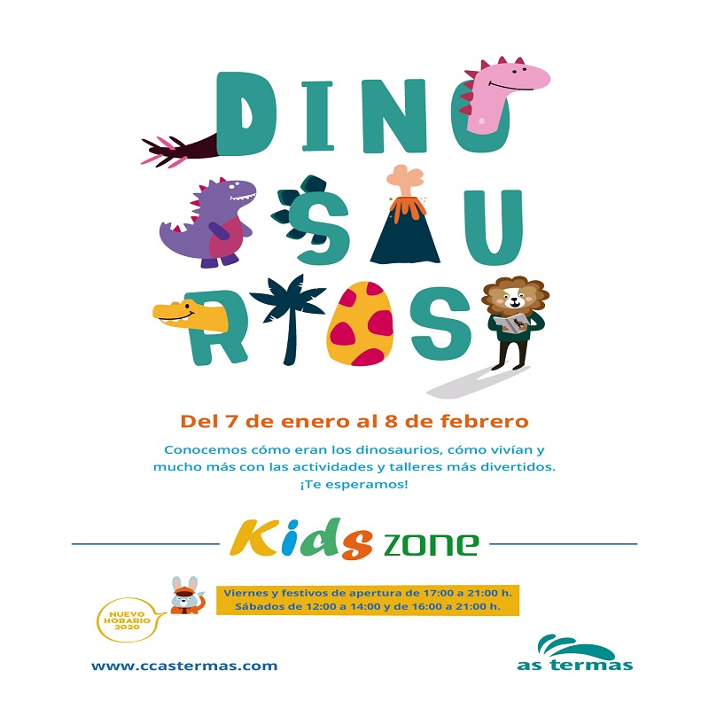 ¡Dinosaurios en la Kids Zone!