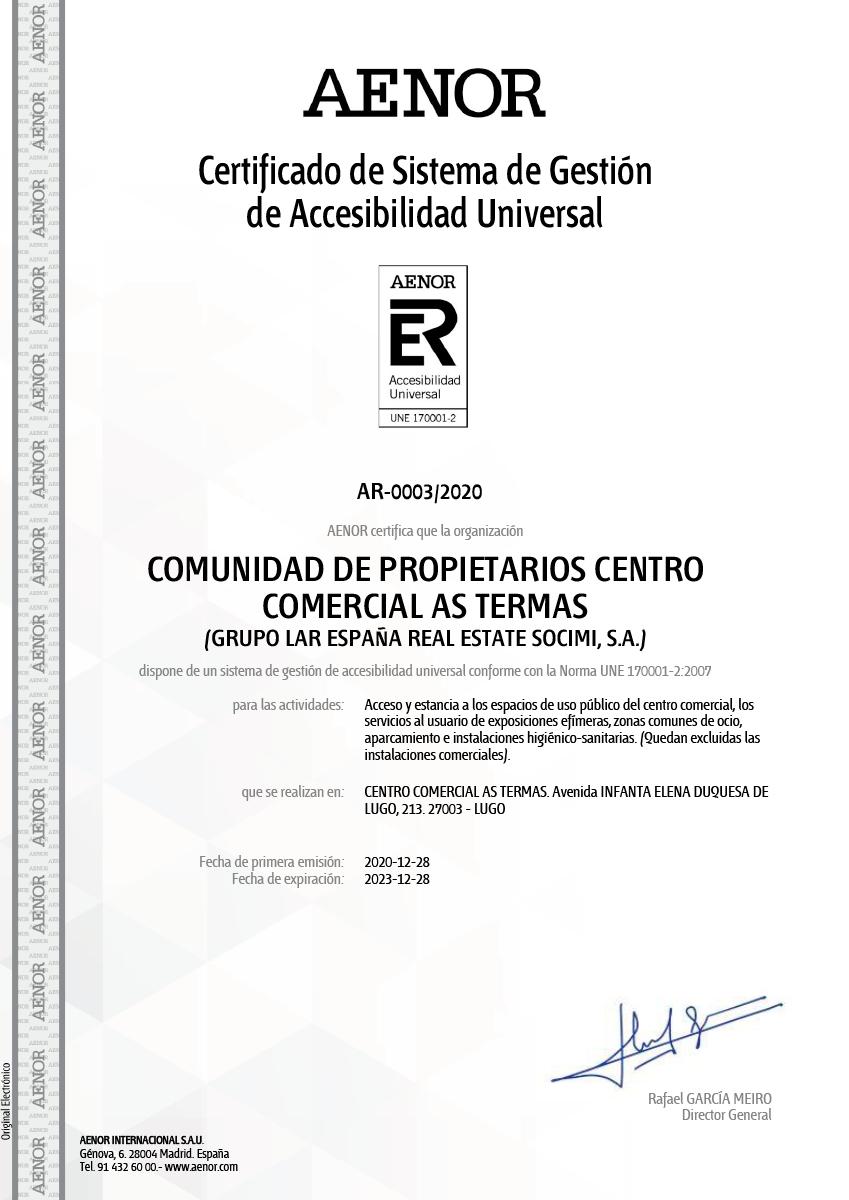 certificado-sistema-gestion-acesibilidad-universal
